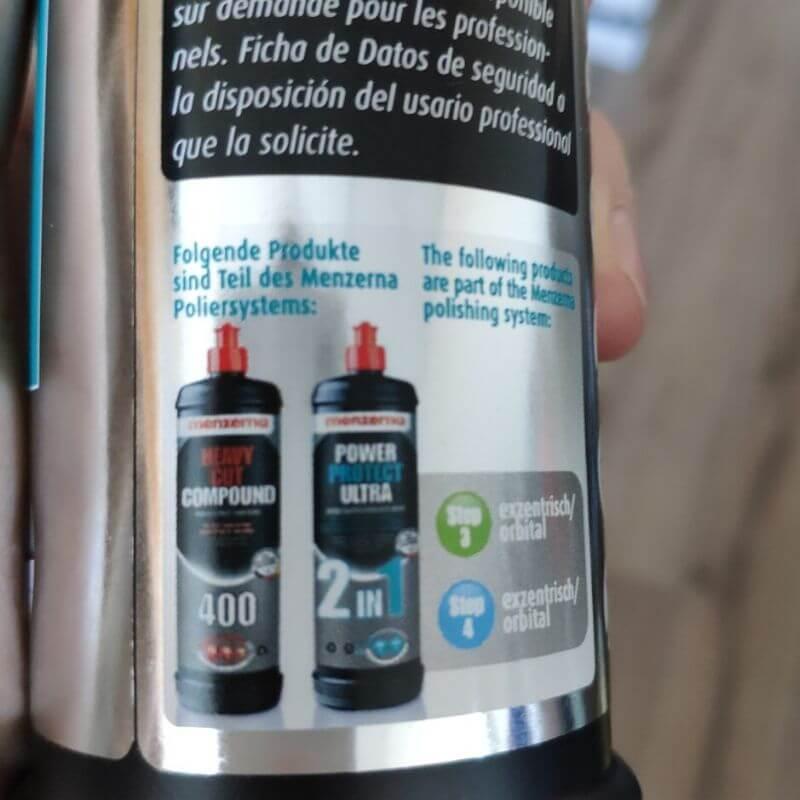 Odporúčaný proces rýchleho leštenia Menzerna 400 a Power Protect Ultra 2in1