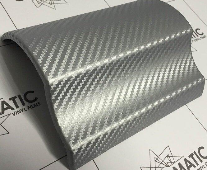 3d strieborny karbon nalepeny na modeli