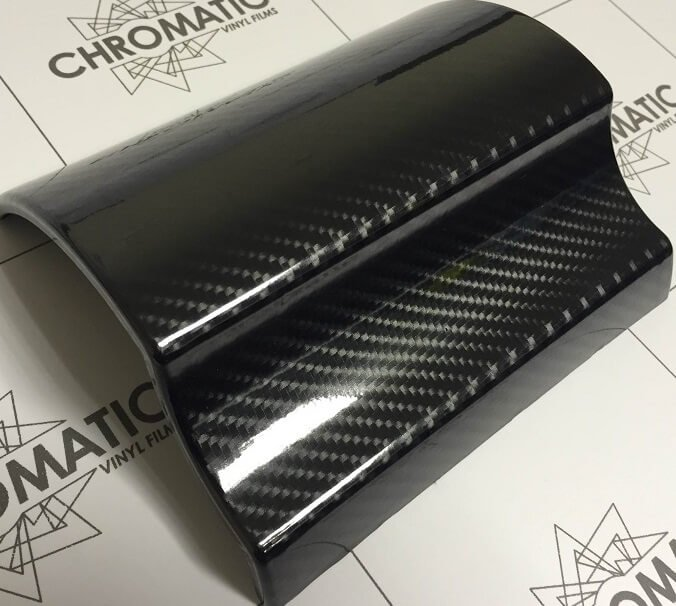 5D super leskly cierny karbon nalepeny na modeli TaishiFolie