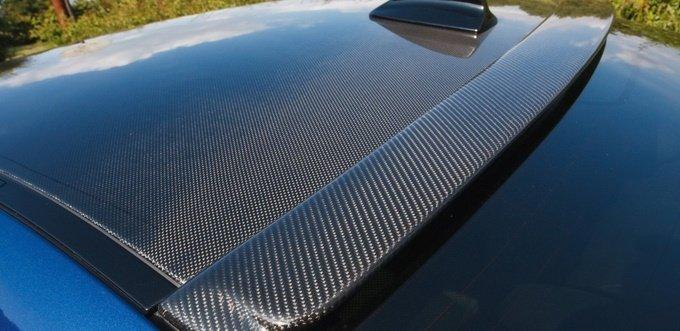 super leskly cierny karbon 5d vzor na streche TaishiFolie