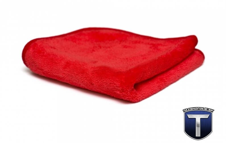 mikrovlaknova utierka Red Finisher Plush Shiny Garage TaishiFolie
