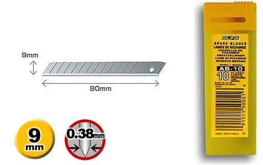 10ks náhradných čepelí pre OLFA nôž SVR 2 spolu s krabičkou na použité nože TaishiFolie.sk