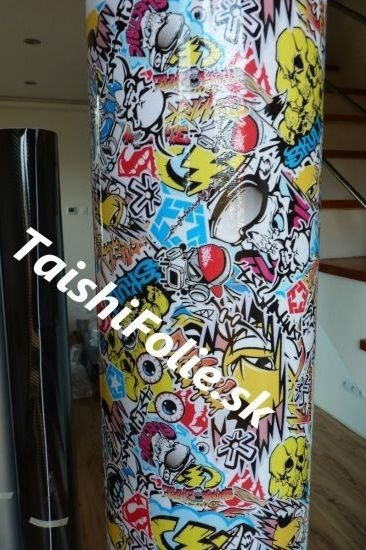 Stickerbomb folia leskla farebna TaishiFolie