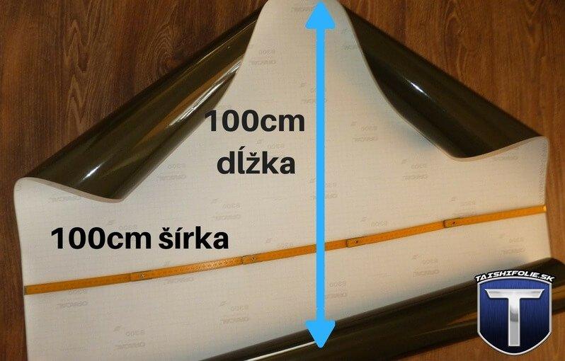 Folia na svetla oracal 100x100cm stredne tmava TaishiFolie