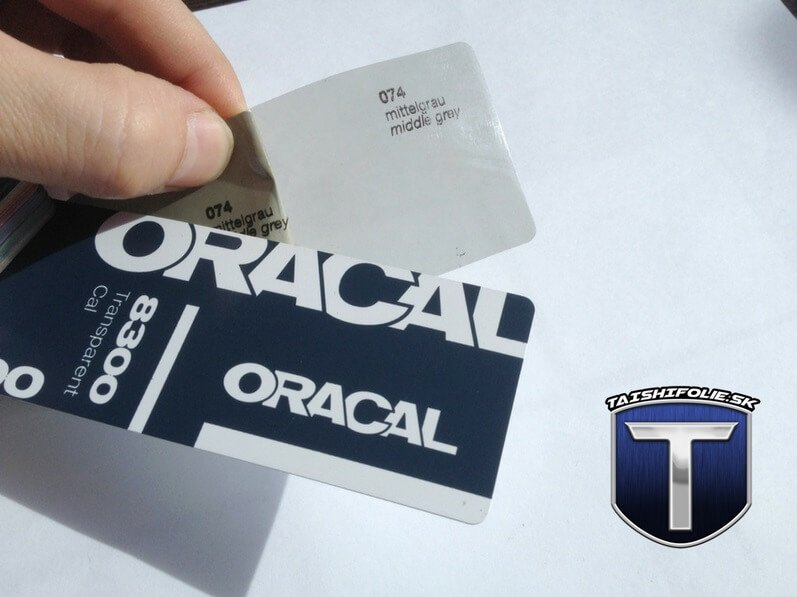 Oracal 8300 folie na svetla odtien 074 slabo cierna TaishiFolie