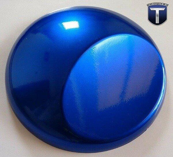 Modrá lesklá metalická fólia TaishiFolie