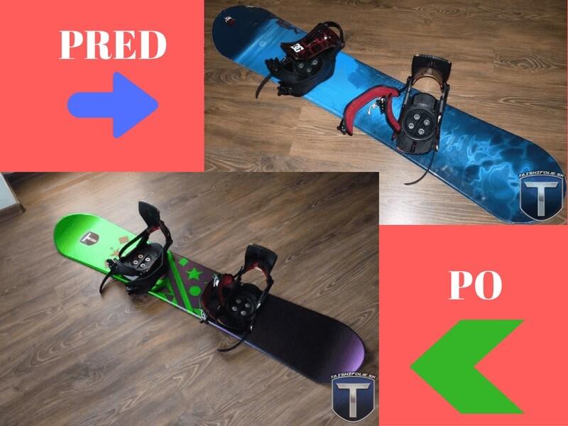 Návod ako si vynoviť snowboard alebo lyže s fóliami