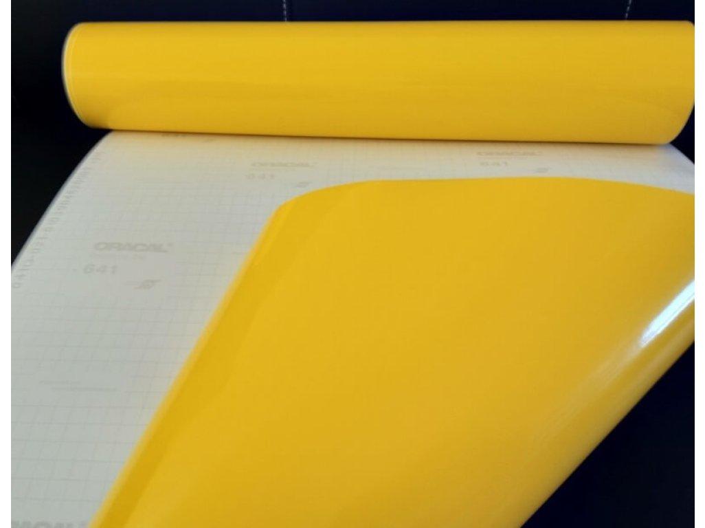 Žltá 021 lesklá fólia Oracal 641 100x100cm