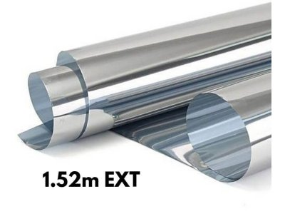 Zrkadlová fólia na okná Silver 20% exteriérová 1,52x1m