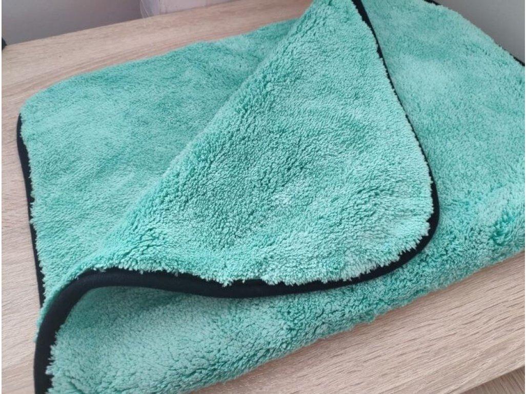Hustý zelený mikrovláknový uterák 1200g 70x50cm
