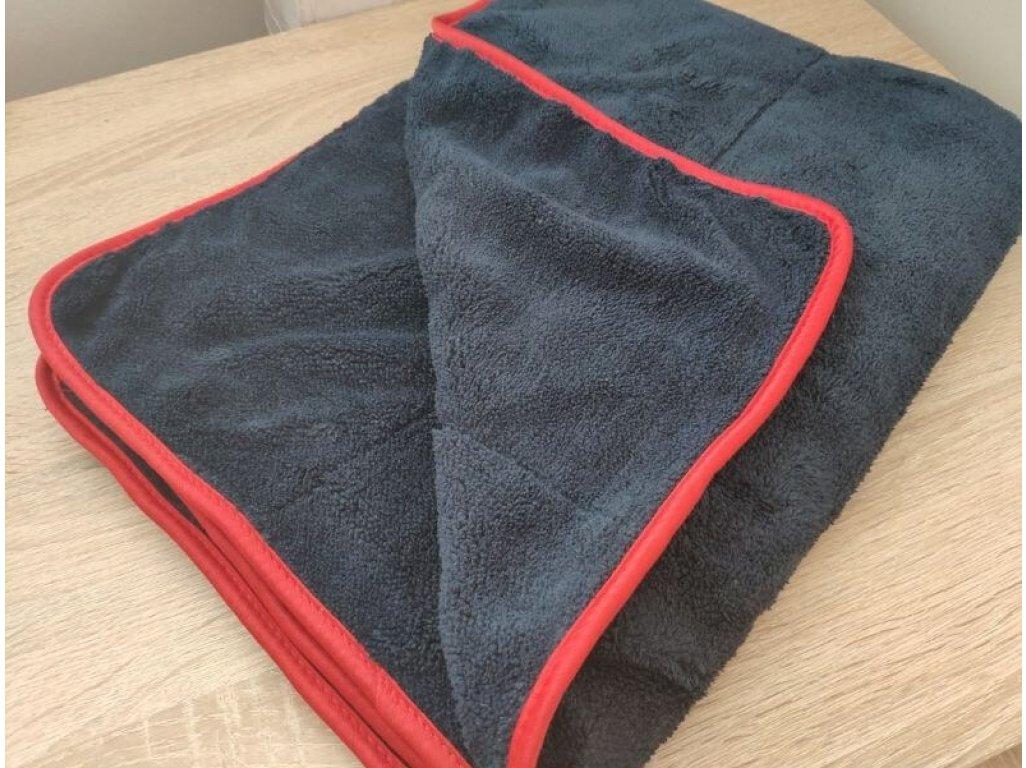 Hustý sivý mikrovláknový uterák 600g 80x60cm