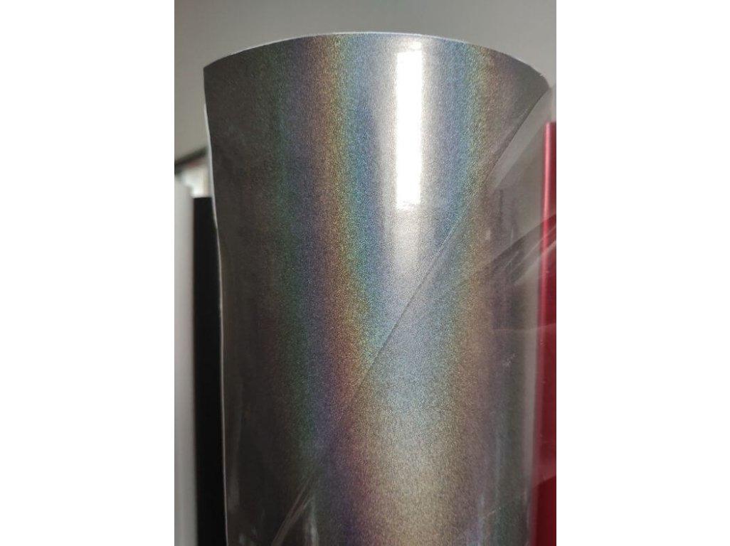 Strieborná psychedelic chameleónová fólia 1.52x1m TAISHI