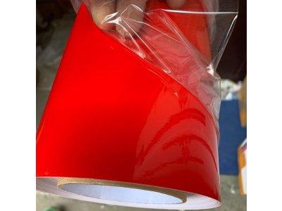 Červená lesklá trojvrstvová fólia TAISHI