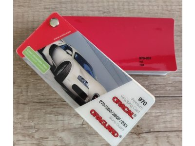 Červená lesklá fólia Oracal 970RA Red 031
