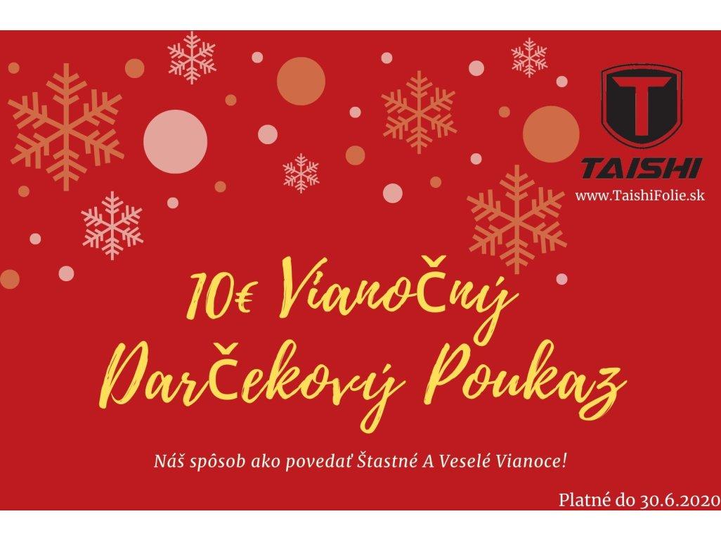 10 Eurový vianočný darčekový poukaz
