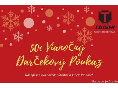 50 Eurový vianočný darčekový poukaz