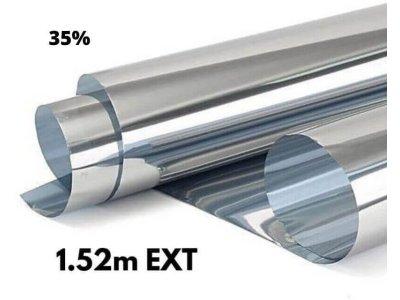 Zrkadlová fólia na okná Silver 35% exteriérová 1,52x1m