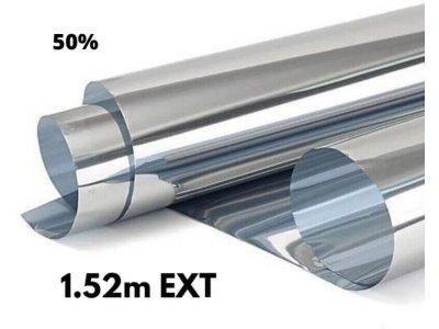 Zrkadlová fólia na okná Silver 50% exteriérová 1,52x1m
