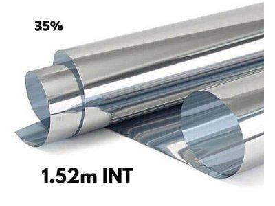 Zrkadlová fólia na okná Silver 35% interiérová 1,52x1m