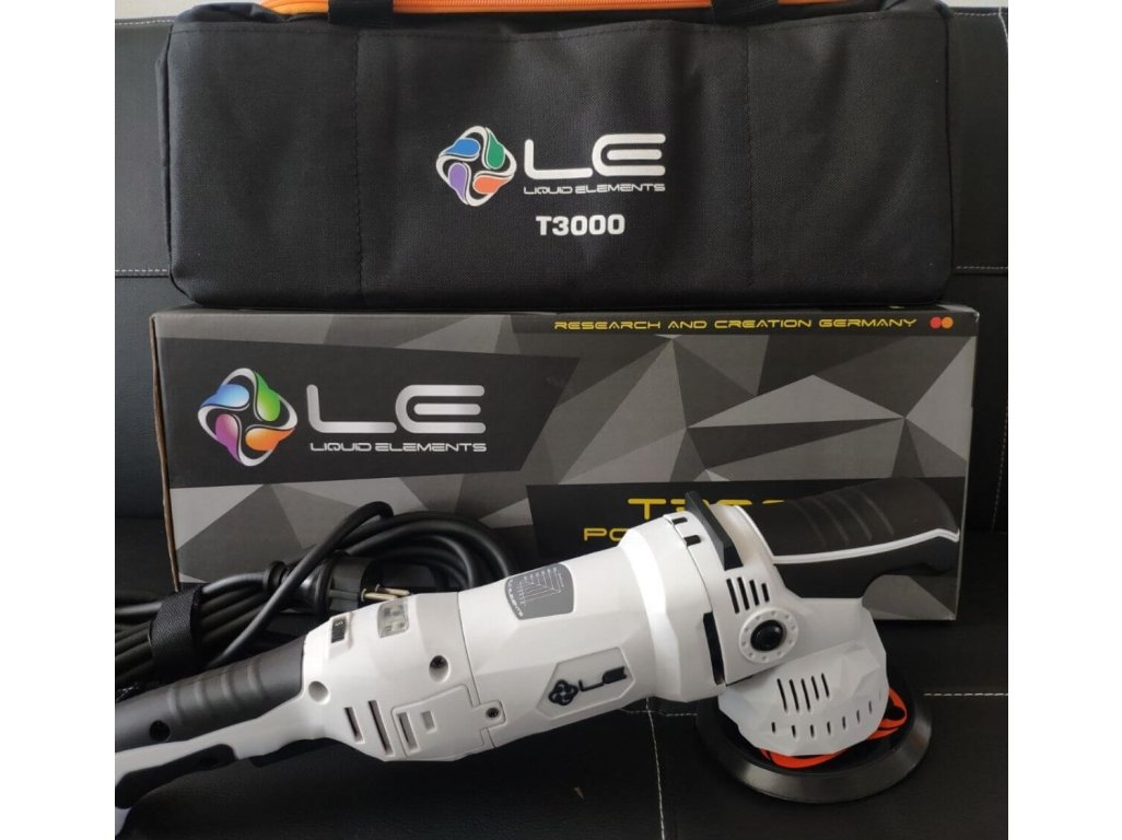 Orbitálna leštička 10mm Liquid Elements T3000 V3 + 75mm unášač + taška