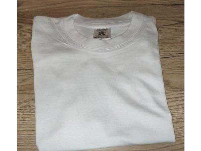 5ks biele potlačiteľné tričká pre deti 1-2 roky B&C