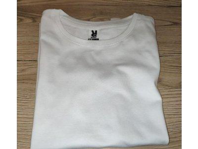 5ks biele potlačiteľné tričká pre deti 7-8 rokov ROLY