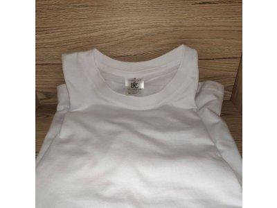 Biele potlačiteľné tričko pre dospelých B&C - veľkosť M