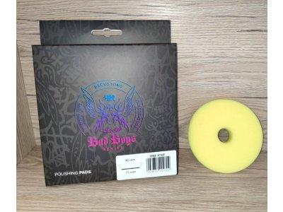 Stredný žltý jednokrokový leštiaci pad One Step Bad Boys 75/90mm